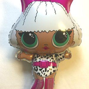 Куколка Лол Дива фольгированный шар