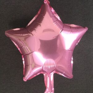 Фольгированный воздушный шар в виде звезды розового цвета
