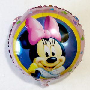 Фольгированный шар Минни маус с розовым бантом