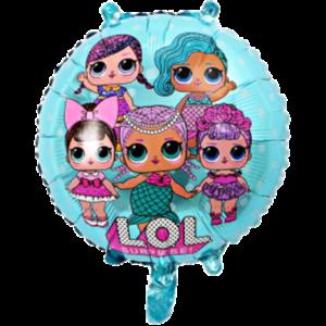 куколки лол круглый фольгированный шар