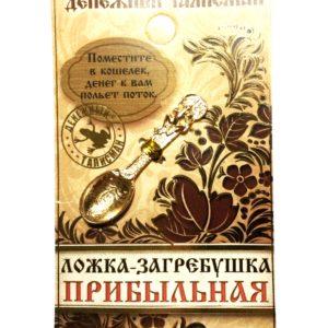 денежный талисман ложка-загребушка с лягушкой
