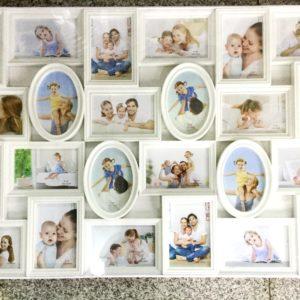 Рамка для 24 фотографий белого цвета на 24