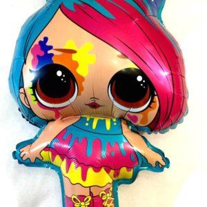 Фольгированный шар в виде фигурки куколка Лол
