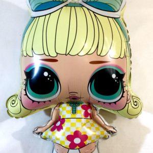 Куколка Лол фольгированный воздушный шар