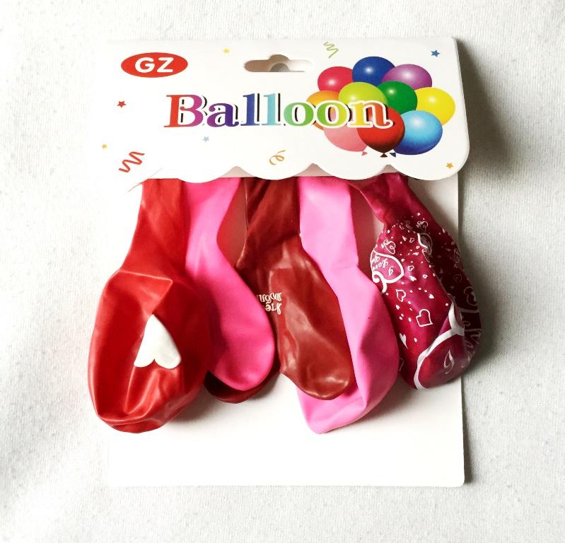 набор воздушных шаров с тематикой я тебя люблю
