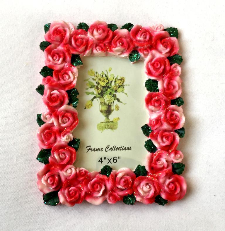 фоторамка керамическая розовые розы