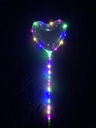 Бобо шар в виде сердца светящийся