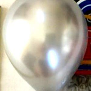 хром воздушный шар серебро