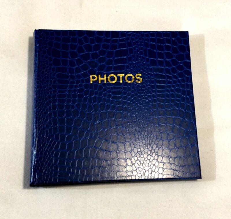 фотоальбом кож зам на 200 фото синего цвета бумажные листы место для замиси