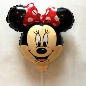 комплект шар с погремушкой на палочке Минни