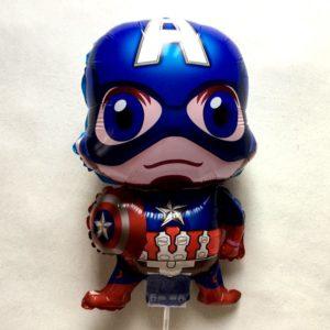 комплект фольгированный шар с палочкой Капитан Америка