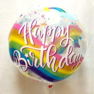 С днём рожденья фольгированный прозрачный воздушный шар