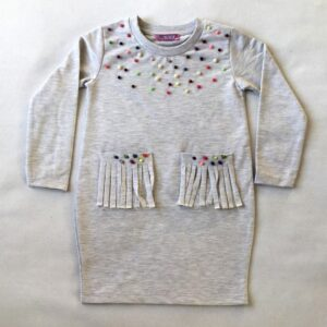 туника для девочек украшена цветными бусинками и есть карманы возраст 3-7 лет опт