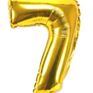 цифра 7 фольга золото