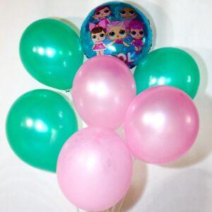 воздушные шары куколка лол бирюза