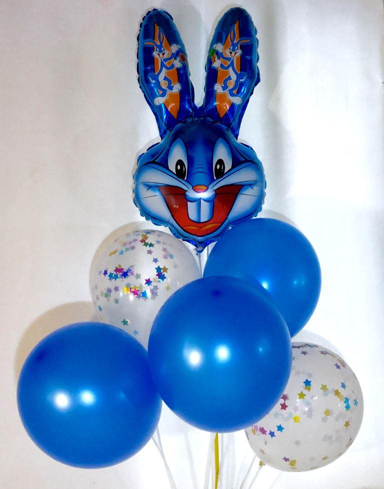 Набор из 6 шаров Заяц синий