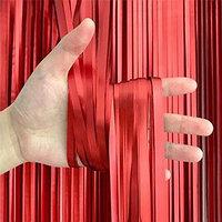 Фотозона / шторка 1х2 метра красная сатиновая